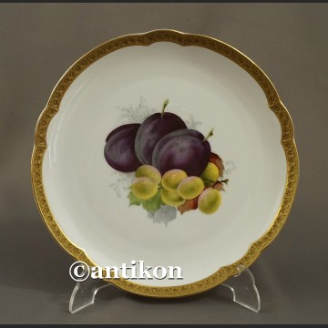 Porcelana Rosenthal talerz deserowy z owocami 4