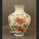 Wazon Rosenthal wielki biały z różami cudowny wzór Rigoletto ok. 1940 r.