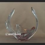 Duża szklana patera z Murano fioletowa