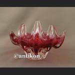 Duża szklana ognista patera z Murano