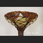 Lampa witrażowa podłogowa do salonu jesienny wzór