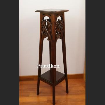 Kolumna drewniana postument wysoki stolik pod rzeźbę lub lampę