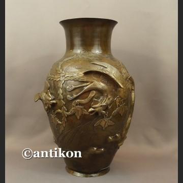 Waza z brązu nr 1 sygnowana Chiny antyk z XIX w