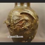 Waza z brązu sygnowana Chiny antyk z XIX w
