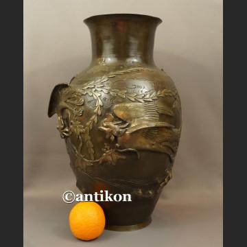 Waza z brązu nr 2 sygnowana Chiny antyk z XIX w