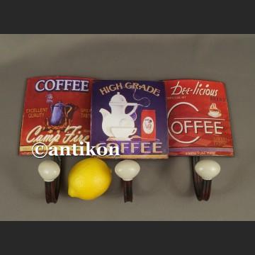 Wieszak vintage reklama kawy do kuchni lub kawiarni