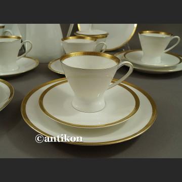 Serwis Rosenthal kawowy wyjątkowa forma klasyk z białej porcelany