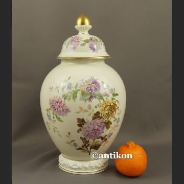 Wazon Rosenthal duży z pokrywką chryzantemy waza