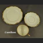 Filiżanka kolekcjonerska stara bawarska porcelana zestaw śniadaniowy eleganckie trio
