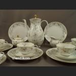 Serwis Furstenberg kawowy hrebaciany na 6 osób romantyczna porcelana