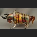 Dekoracyjne szkło z Murano szklany byk symbol hossy