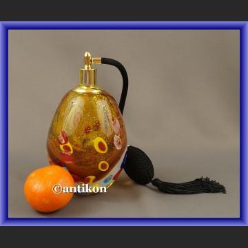 Szklana perfumetka duża butelka z atomizerem z Murano