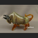 Szklana figurka z Murano szklany byk symbol hossy
