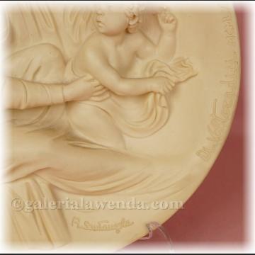 Relief alabastrowy z Włoch Madonna Beata