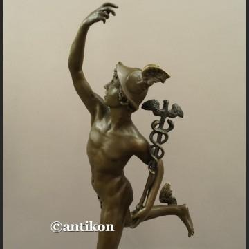 Rzeźba z brązu Hermes patron interesów Merkury bóg kupców świetna