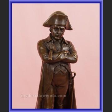 Rzeźba z brązu Napoleon z lunetą Francja