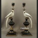 Świecznik pałacowy z papugą ogromny