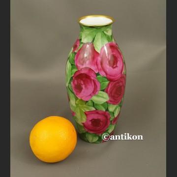 Wazon Rosenthal unikat przedwojenny róże ręcznie malowany