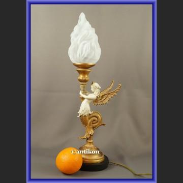 Lampa w stylu empire z alabastrem
