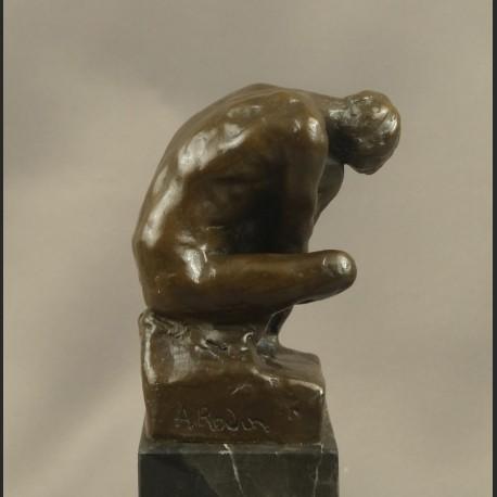 Chłopiec A. Rodin znakomita rzeźba klasyka brąz