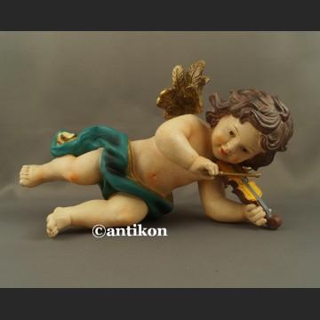 Anioł skrzypek duża barokowa figurka