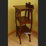 Kolumna drewniany postument wysoki stolik pod rzeźbę lub lampę
