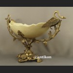 Patera porcelana z brązem Pałacowa ogromna