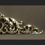 Zwieńczenie ażurowe srebrne kwiaty nadproże