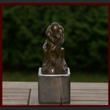 Myśliciel A. Rodin znakomita rzeźba klasyka brąz
