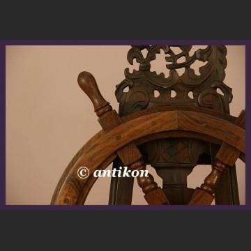 Koło sterowe wielkie na jacht lub marynistyczna dekoracja