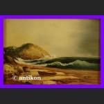 Obraz marynistyka olejny piękna plaża