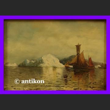 Góra lodowa obraz olejny złocona rama