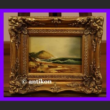Obraz olejny piękna plaża Marynistyka