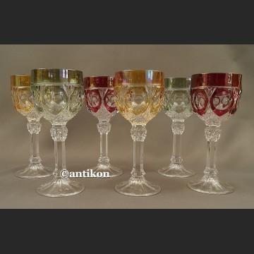 Kieliszki kryształowe luksusowy komplet stare szkło