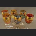 Kieliszki do wina wody wielki luksusowy komplet stare szkło