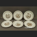 Talerze deserowe motywy myśliwskie niemiecka porcelana