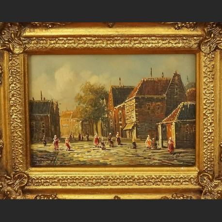 Obraz olejny Gdańsk miniatura