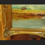 Obraz olejny alpejski pejzaż rzeki Inn