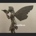 Rzeźba z brązu prześliczny elf skrzydlata dziewczyna pokaźna figura
