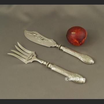 Srebrne sztućce środka stołu XIX w Francja