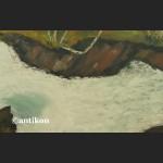 Olej na desce Wodospad leśny pejzaż