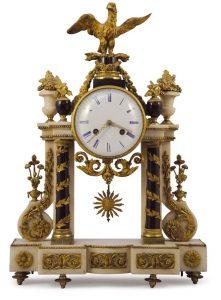 zegar kominkowy w stylu empire