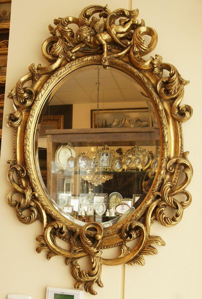 stylowe lustro w ramie