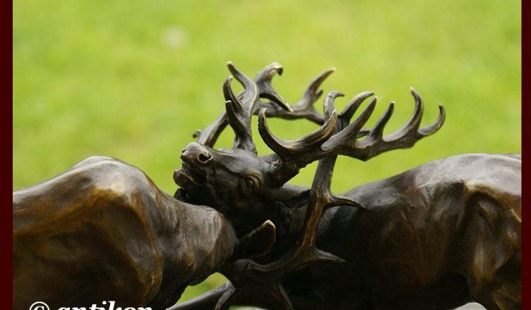 walczące jelenie
